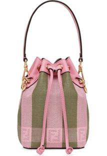 Fendi Bolsa Bucket Mon Tresor Mini - Rosa