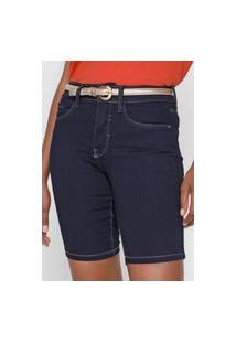 Bermuda Jeans Lunender Slim Tag Azul
