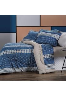 Jogo De Roupa Casal De Cama All Design - La Petite Azul Altenburg