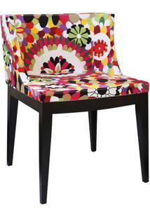 Cadeira Senhorita- Vermelha & Preta- 73X50X42Cm-Or Design