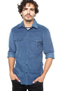 Camisa Forum Veludo Azul