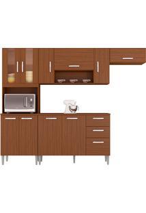 Cozinha Compacta C/ Balcão Lavinia-Poquema - Capuccino