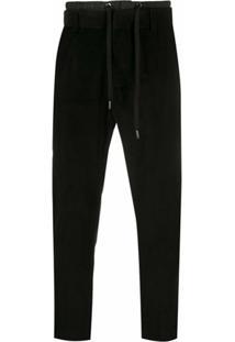 Dolce & Gabbana Slim-Fit Drawstring Trousers - Preto