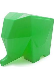 Porta Talheres E Escorredor Elefante Verde