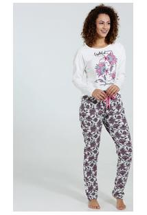 Pijama Feminino Estampa Paisley Marisa