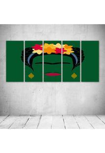 Quadro Decorativo - Frida (6) - Composto De 5 Quadros - Multicolorido - Dafiti
