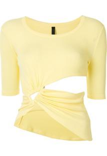 Unravel Project Regata Com Recorte Vazado - Amarelo