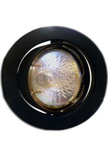 Spot Dicróica Dirigível Zamac Mr16 50W 127V Preto