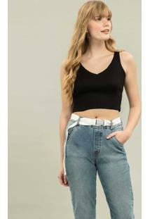 Calça Jogging Jeans Com Cinto Jeans - Lez A Lez