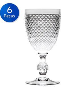 Conjunto 6 Taças De Acrílico 395 Ml - Bon Gourmet - Transparente