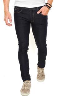 Calça Jeans Guess Skinny Pespontos Azul
