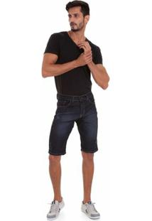 Bermuda Jeans Versani Masculina - Masculino-Marinho