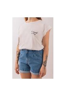 T-Shirt De Malha Manaca Hug Off White