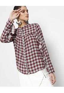 6d43be90ba ... Camisa Com Babados- Vermelha   Brancalez A Lez