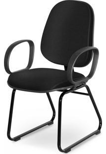Cadeira Gerente Base Trapã©Zio Braã§O Cors Preta - Preto - Dafiti