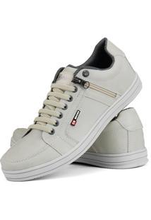 Sapatênis Cr Shoes Com Elástico E Zíper Lateral Lançamento Bege