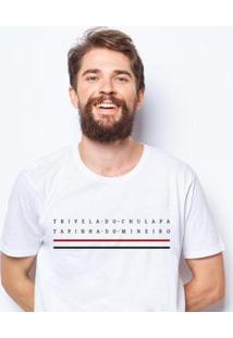 Camiseta Zé Carretilha - São - Tricolor - Tapinha - Branco - G - Masculina - Masculino