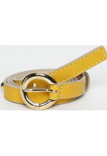 Cinto Com Rebites- Amarelo- 1,5X85Cm- Lança Perflança Perfume