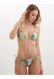 Top Rosa Chá Basic Fan Beachwear Estampado Feminino (Fan, Gg)