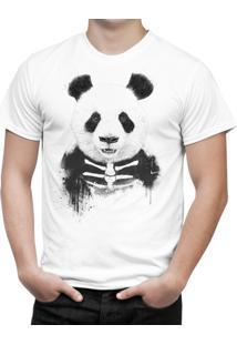 Camiseta Bottonshirt Zombie Panda Branca