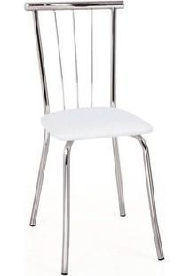 Cadeira Carraro 154 Aço 4 Unidades Crom/Branco