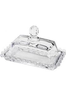 Manteigueira Rojemac Em Cristal Pearl Incolor - Kanui