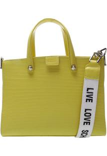 Bolsa Texturizada- Amarela & Brancaschutz