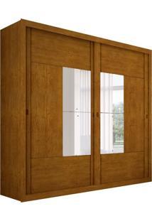 Guarda-Roupa Casal Com Espelho Dalí Imbuia 2 Pt 6 Gv