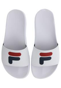 Chinelo Fila F-Slider - Slide - Masculino - Branco
