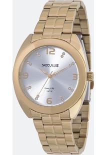 Relógio Feminino Seculus 20539Lpsvda1 Analógico 5Atm