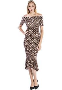 Vestido Midi Colcci - Feminino-Preto