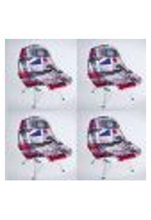 Kit Com 04 Capas Para Cadeira Charles Eames Eiffel Wood Londres