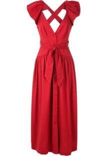 Framed Vestido Longo Greta - Vermelho