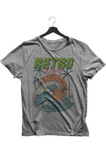 Camiseta Jay Jay Básica Retro Wave Cinza Mescla Dtg