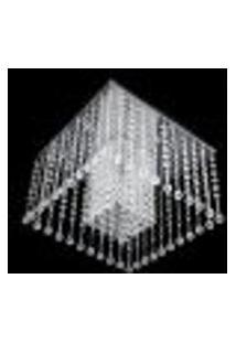 Lustre Acrílico Plafon Quadrado 30X30X17Cm - Jp/Mito/30