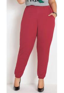 Calça Jogger Vermelha Plus Size