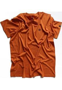 Camiseta Zebra Pine Cone Casual Masculino - Masculino-Laranja