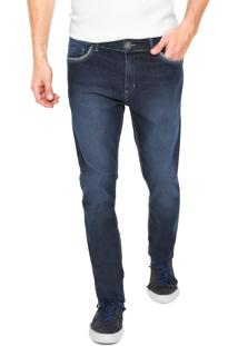 Calça Jens Mr Kitsch Slim Estonada Azul