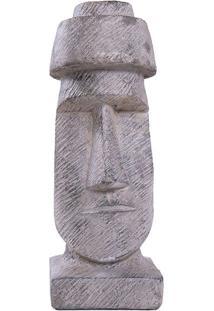 Escultura Moai Em Cimento