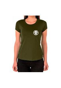 Camiseta Feminina Algodão Básica Confortável Dia A Dia Verde