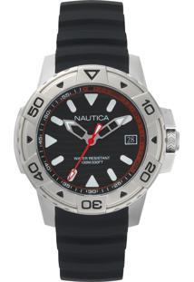 f5de8539235 Vivara. Relógio Masculino Nautica Preto Borracha ...
