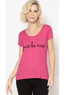 """Blusa """"Be Nice""""- Rosa Escuro- Shirley Dantasshirley Dantas"""