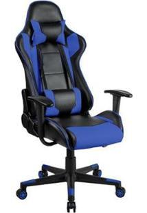 Cadeira Gamer Blue Waves Ergonômica Giratória Reclinavél - Unissex-Azul