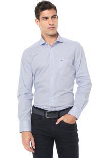Camisa Aramis Reta Xadrez Branca/Azul