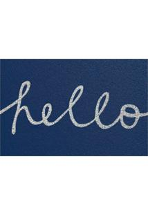 Capacho Super Print Hello Azul
