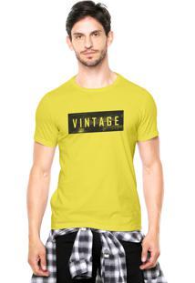 Camiseta Rgx Vintage Amarela