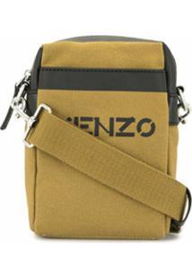 Kenzo Bolsa Transversal Pequena Com Logo - Marrom