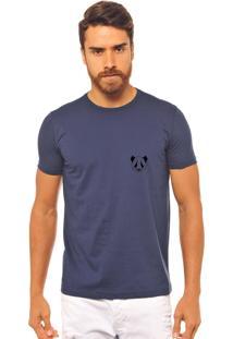 Camiseta Joss Azul Marinho Estampada F Panda