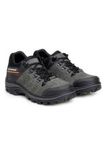 Bota Ankle Boot Explorer Masculino Couro Conforto Resistente Café 37 Cinza
