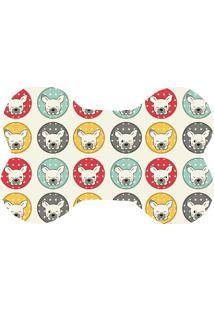 Tapete Love Decor Wevans Pet Bulldogs Colorido